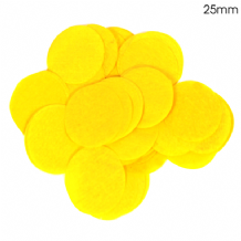 Yellow Tissue Paper Confetti | 25mm Round | 100g Bag